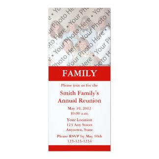 """Custom Red Photo Announcement or Invitation 4"""" X 9.25"""" Invitation Card"""