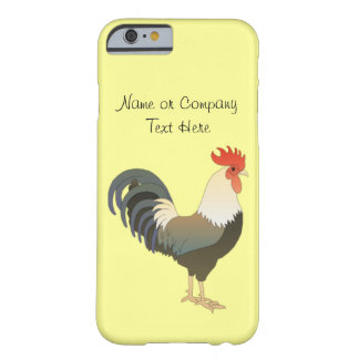Custom Red Rooster Farm Animal yellow Barely There iPhone 6 Case