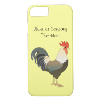 Custom Red Rooster Farm Animal yellow iPhone 8/7 Case