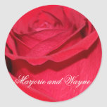 Custom Red Rose Envelope Seal Sticker Template