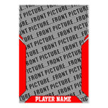 Custom Red Sports Trading Card Large Business Cards (Pack Of 100)