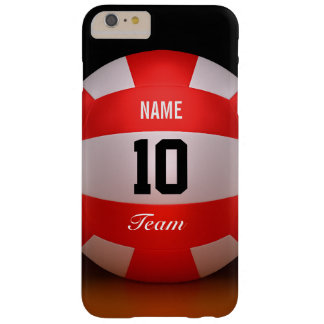 Custom Red Volleyball Barely There iPhone 6 Plus Case