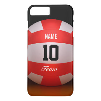 Custom Red Volleyball iPhone 7 Plus Case