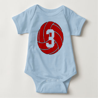 Custom Red Volleyball Shirt