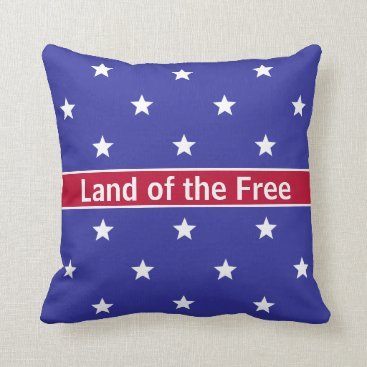 USA Themed Custom Red White and Blue Patriotic Throw Pillow