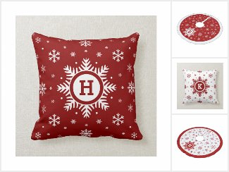 Custom Red & White Christmas Accessories