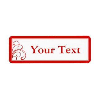 Custom Red & White Gift Tag Stickers or Labels