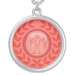 Custom Red Zodiac necklace