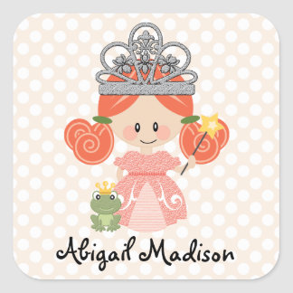 Custom Redhead Princess Frog Sticker