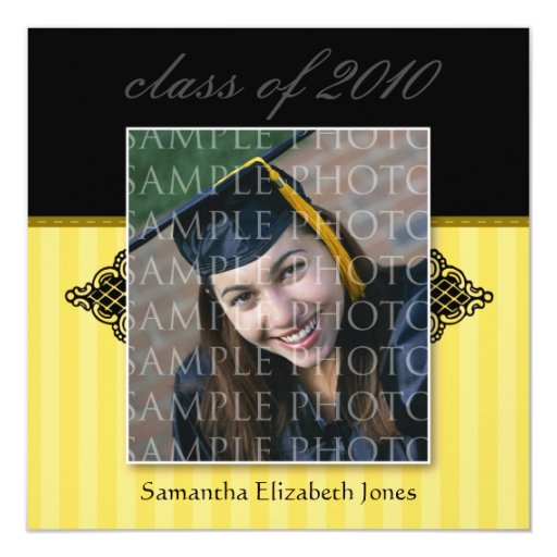 Custom graduation party invitations custom regal square graduation invitation gold zazzle filmwisefo Images