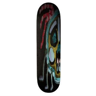 custom reggae skull skate deck