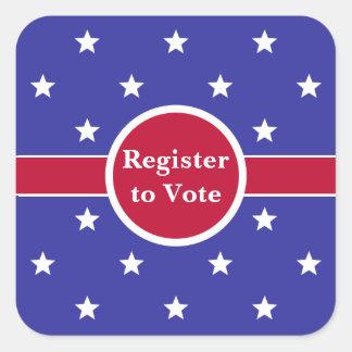 Custom Register to Vote Stickers