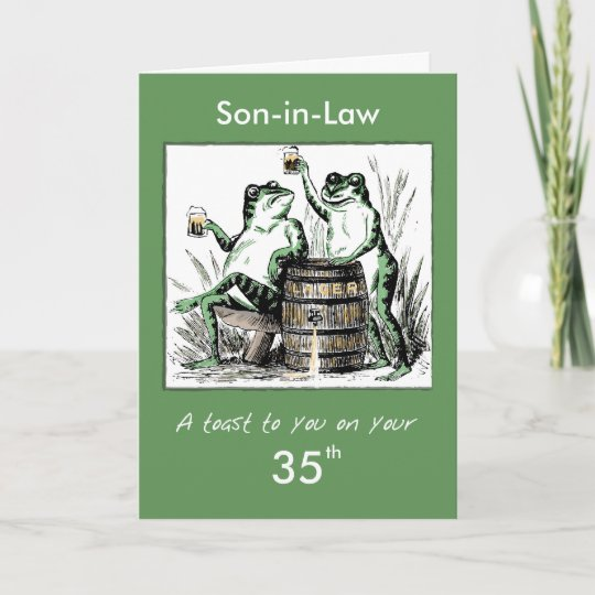 Custom Relationship Age Son In Law 35th Birthday Card