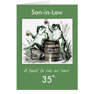 Custom Relationship, Age, Son-in-Law 35th Birthday Card