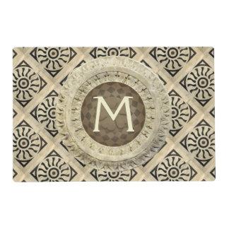 Custom Renaissance Marble Pavement Placemat