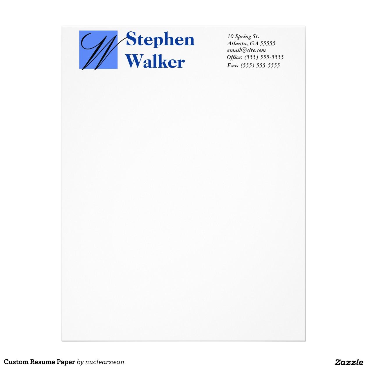 resume paper resume paper 0758