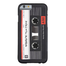 Custom Retro Cassette Tape Barely There iPhone 6 Case