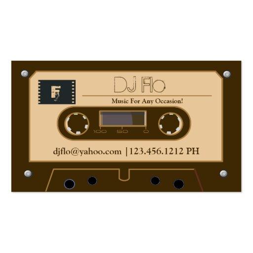Custom Retro Cassette Tape DJ Business Cards