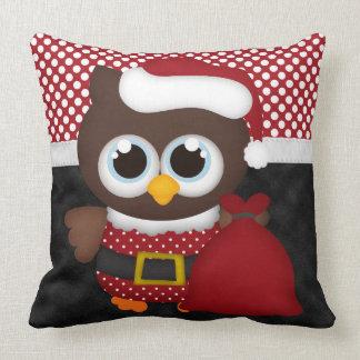 Custom Retro Christmas Owl Pillows