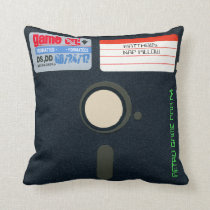 Custom Retro Game Birthday Pillow Floppy Disk 5.25