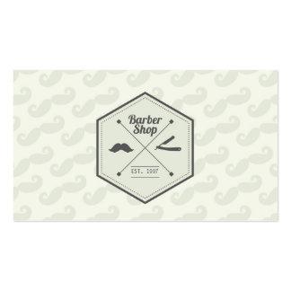 Custom Retro Green and Barber Business Card