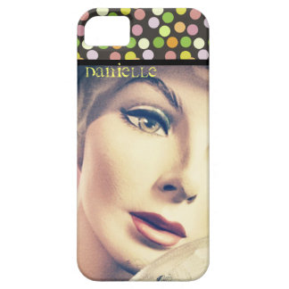 Custom Retro Lady and Dots iPhone 5 / 5s Case iPhone 5 Cover