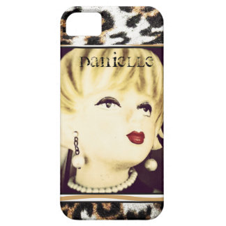 Custom Retro Lady and Spots iPhone 5 / 5s Case iPhone 5 Covers
