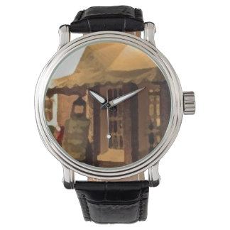 Custom retro OPEN COFFE Relojes De Mano