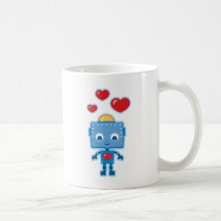 Custom Retro Robot Art Personalized Coffee Mug