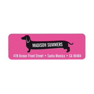 Custom Return Address Label with Wienerdog