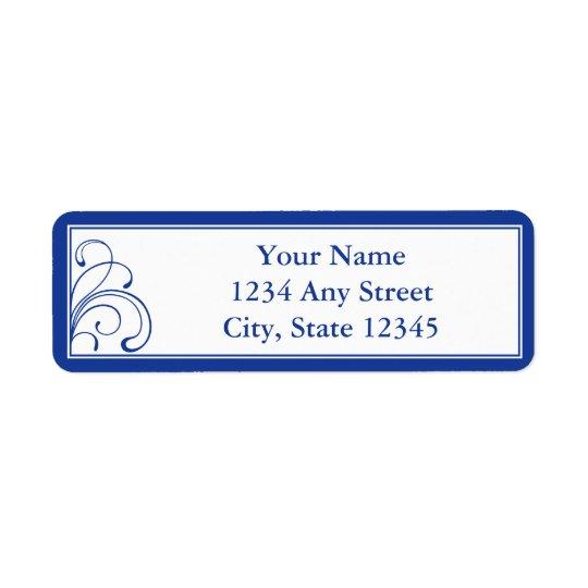 Custom Return Address Labels - Dark Navy Blue