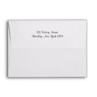 Custom Return Address & Liners Wedding Envelope