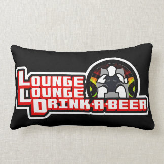 custom reversable Lounge Lounge Drink a Beer pillo Throw Pillow