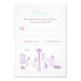 CUSTOM Revised Alexa & Jerry Seattle RSVP Card