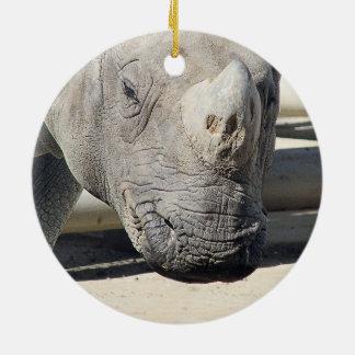 Custom Rhinoceroses Photo Design. Ceramic Ornament
