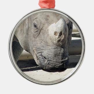 Custom Rhinoceroses Photo Design. Metal Ornament