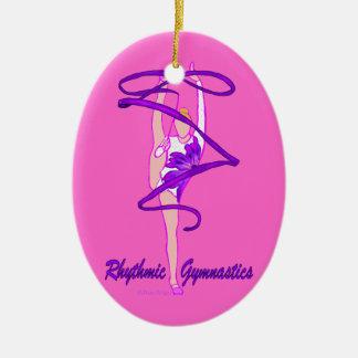 Custom Rhythmic Gymnastic Ribbon Ornament