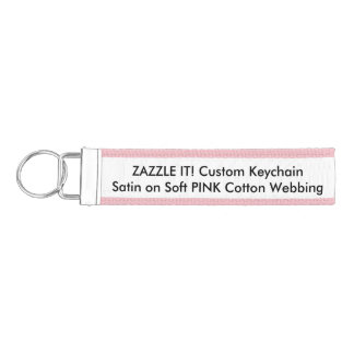 Custom Ribbon Key Chain Keyring Blank Template Wrist Keychain