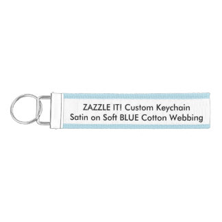 Custom Ribbon Keychain Key Ring Blank Template