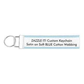 Custom Ribbon Keychain Key Ring Blank Template Wrist Keychain