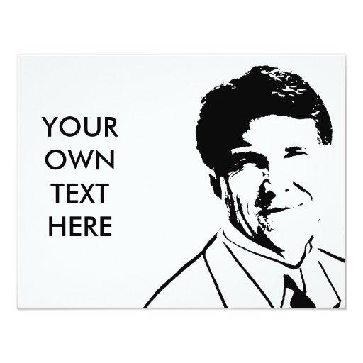 Custom Rick Perry 4.25x5.5 Paper Invitation Card