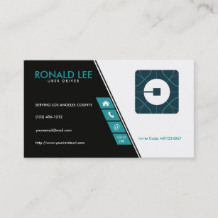 image about Printable Uber Logo referred to as Customized Journey Sharing Uber Driver (Contemporary Uber Emblem) Workplace Card