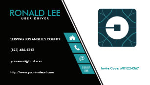 Uber business cards templates zazzle custom ride sharing uber driver new uber logo business card colourmoves Image collections