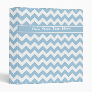 Custom Ring Binder or File Blue and White Chevrons