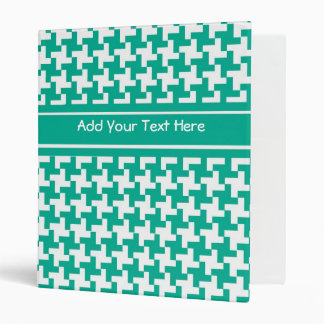 Custom Ring Binder or File Emerald Dogtooth Check