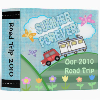 Custom Road Trip Summer Vacation Binder Large