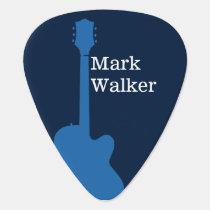 custom rockpicks for the guitarist . blue guitar pick
