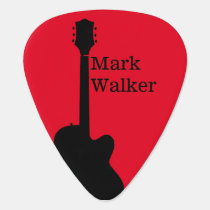 custom rockpicks for the guitarist . red black guitar pick