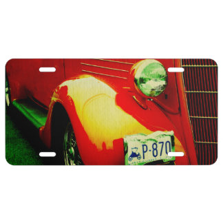 Custom Rod License Plate