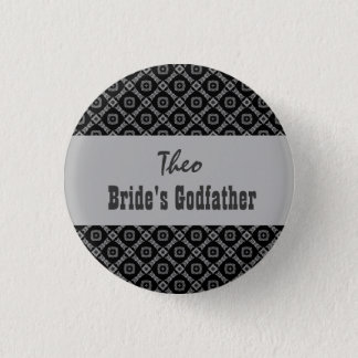 Custom Role Wedding Pink in Black White Silver Button